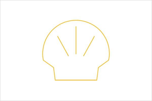 ultra-minimalista logotipo shell 1 Sleek Logo Design Experiment com marcas famosas