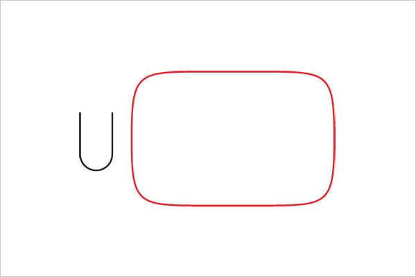 ultra-minimalista logotipo youtube Sleek Logo Design Experiment com marcas famosas