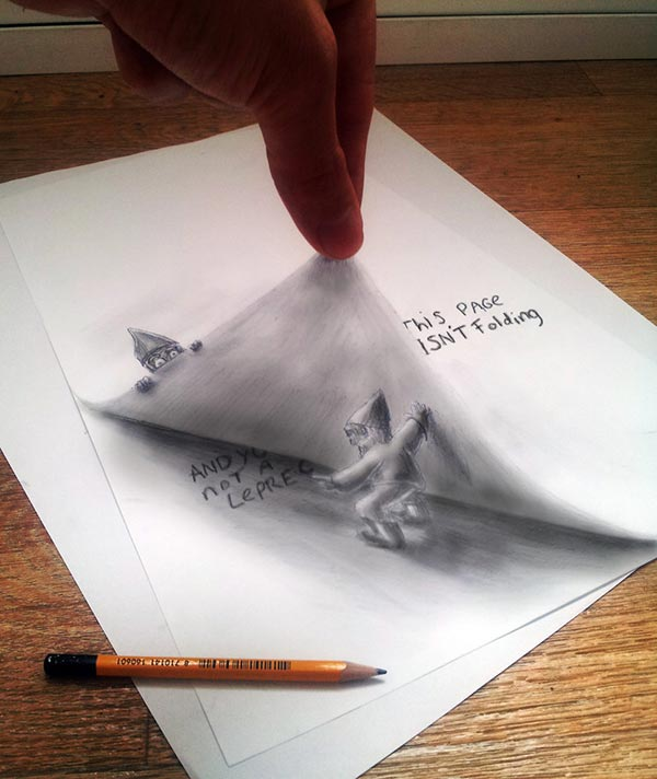 Amazing Collection of 3D Pencil Drawings