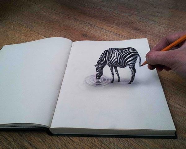 3d-pencil-drawings-Zeebra