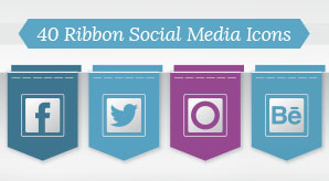 40-Free-Ribbon-Social-Media-Icons-for-WordPress