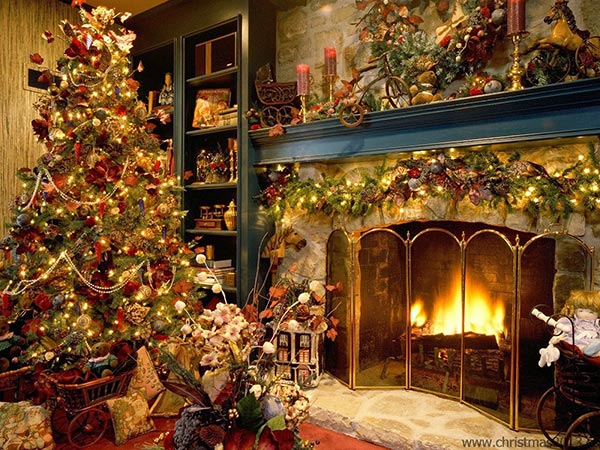 Beautiful-Christmas-decoration-for-living-room