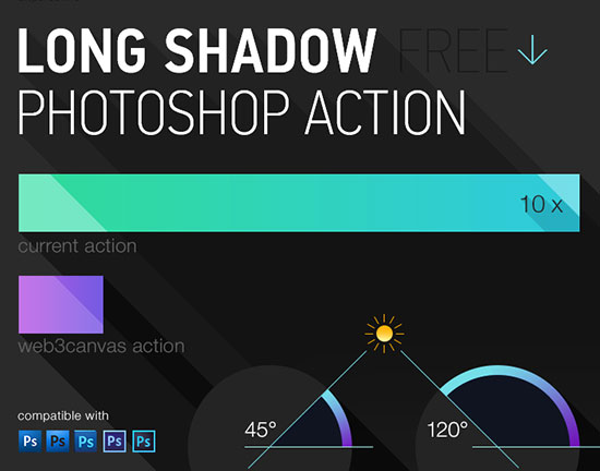 Free-Long-Shadow-Photoshop-Action