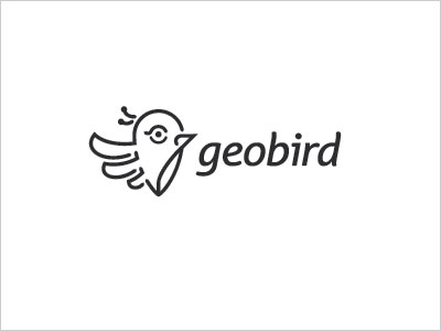 geo bird simple logo design