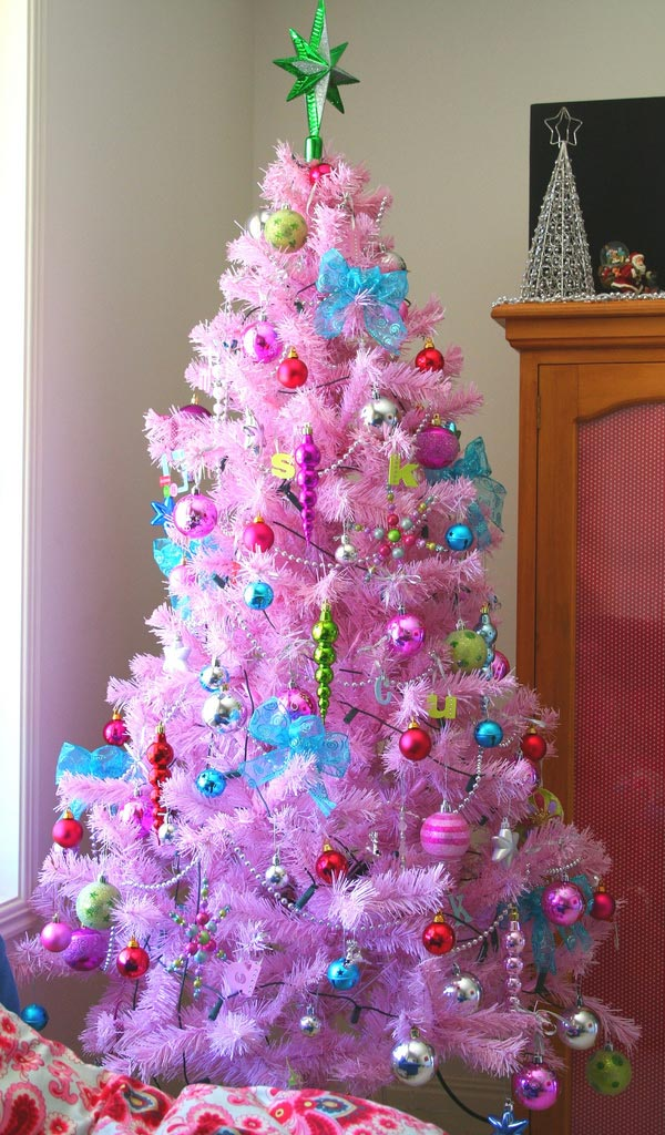 pink christmas tree ideas for kids - Christmas Tree Decorations For Kids