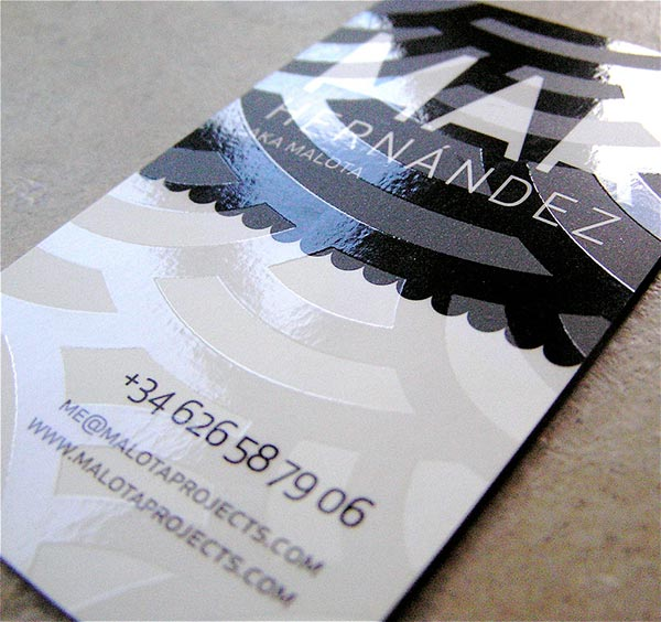 5 types of printing techniques for business cards with examples spot varnish business card design example reheart Image collections