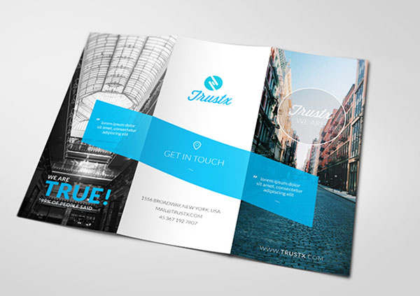 25 really beautiful brochure designs templates for inspiration trustx corporate tri fold brochure template maxwellsz