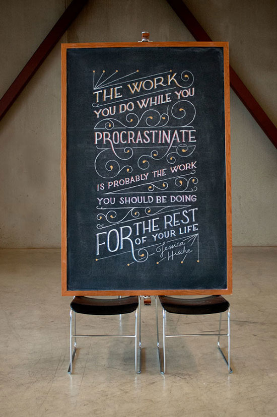 Famous typography quotes written on chalkboard Chalkboard typography