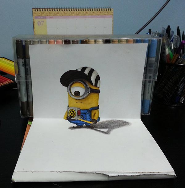 minion_stuart_3d-drawing