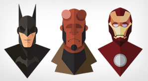 Amazing-Flat-Design-of-Superheroes-by-Jeffrey-Rau