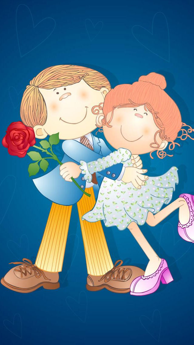 Couple-in-love-valentine-iphone-wallpaper