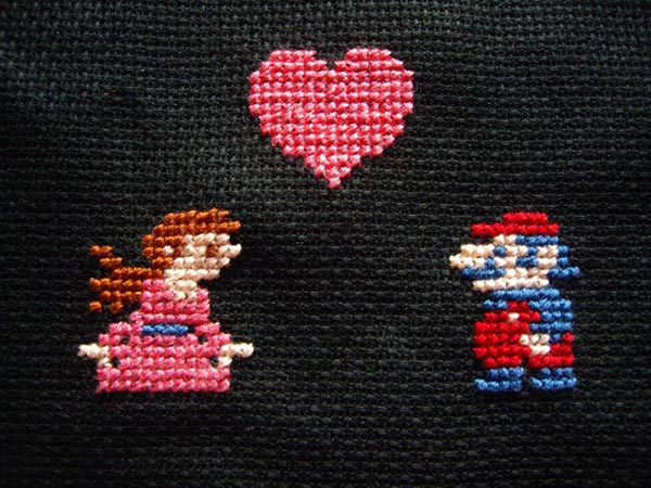 Cross-stitched-Mario-Valentines-day-card-2014-2