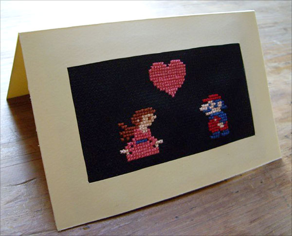 Cross-stitched-Mario-Valentines-day-card-2014
