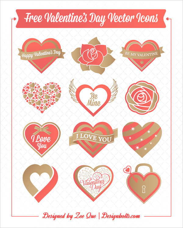 Free-Valentine's-Day-Hearts-&-Rose-Vector-Icons