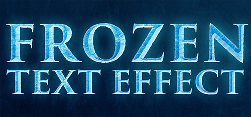 Frozen-text-Effect-tutorial