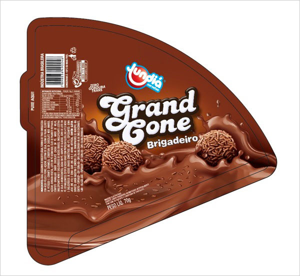 Ice-Cream-Cone-Label-design
