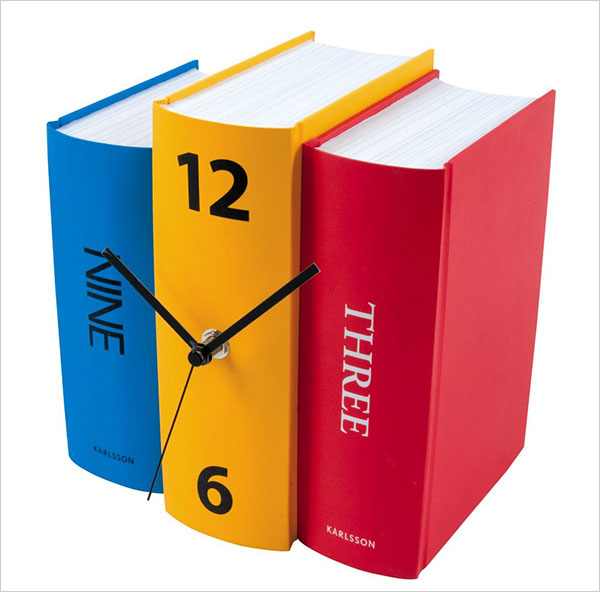 Karlsson-Table-Clock-Book