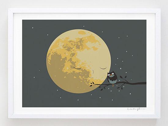 OWL-&-Moon-Love-illustration