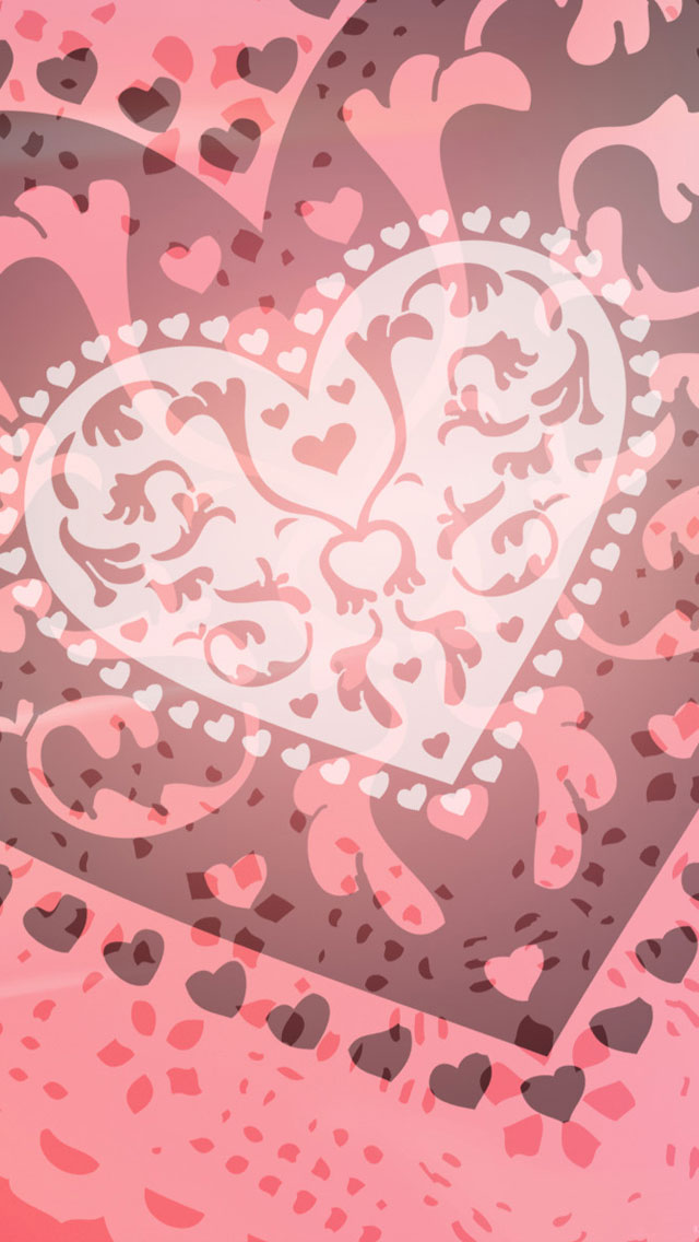 Pink Heart IPhone 5 Wallpaper
