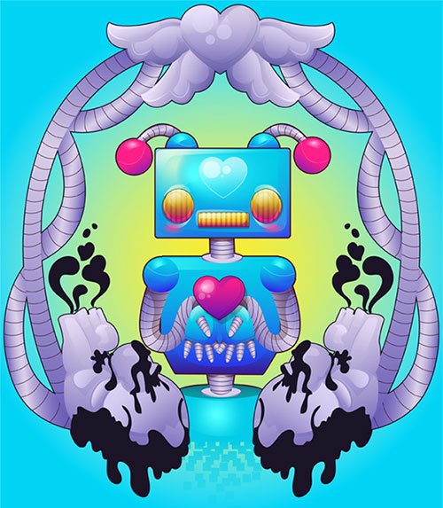 Robot-With-Gradients-in-Adobe-Illustrator