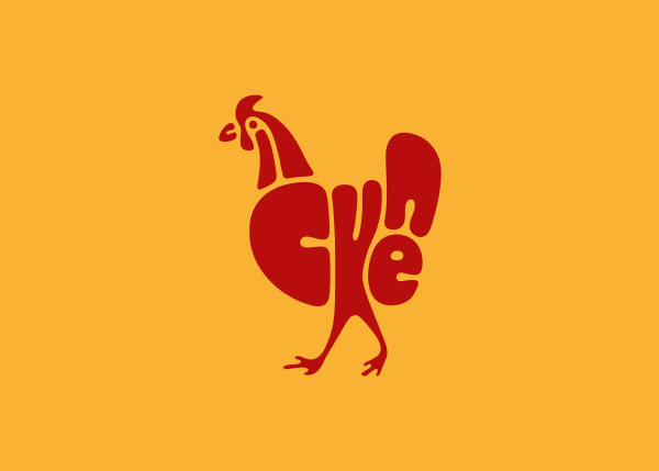 chicken logo A Creative Project of Animal Logotypes by Dan Fleming