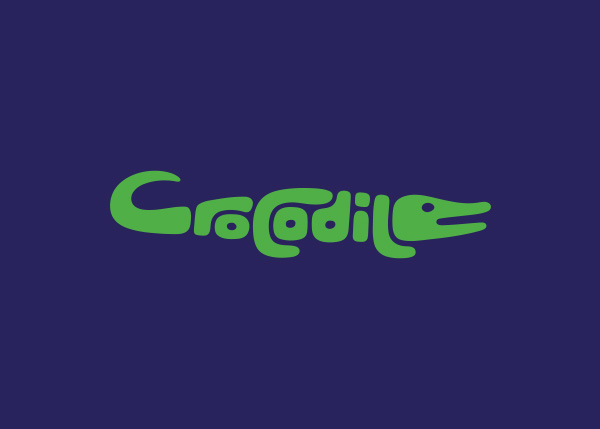 crocodile logo A Creative Project of Animal Logotypes by Dan Fleming