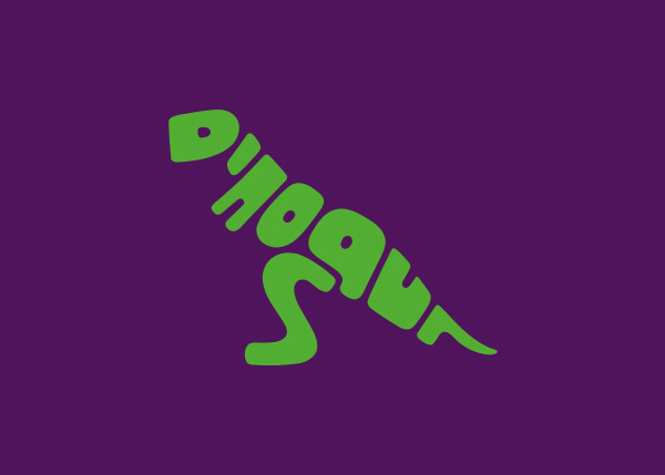 dinosaur logo A Creative Project of Animal Logotypes by Dan Fleming