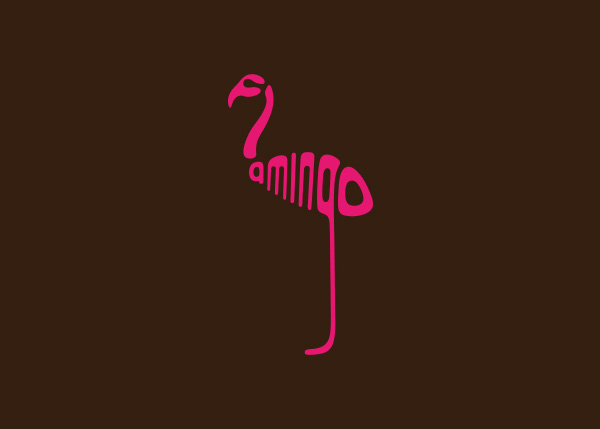 flamingo logo A Creative Project of Animal Logotypes by Dan Fleming