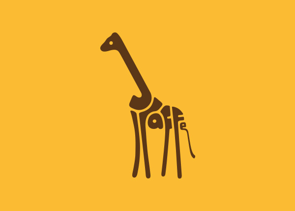 giraffe logo A Creative Project of Animal Logotypes by Dan Fleming