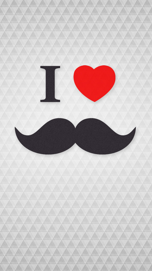 i-love-mustache-iphone-5s-wallpaper