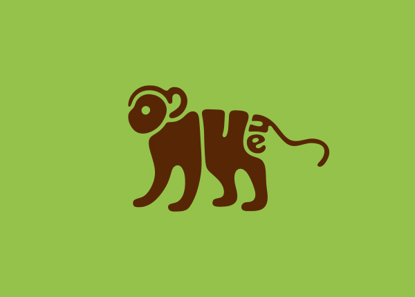 monkey logo A Creative Project of Animal Logotypes by Dan Fleming