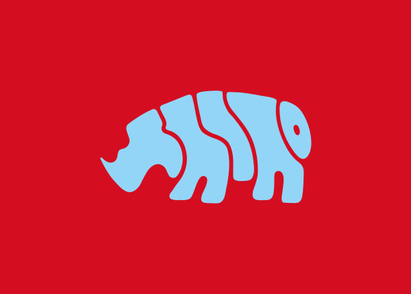 rhino logo A Creative Project of Animal Logotypes by Dan Fleming