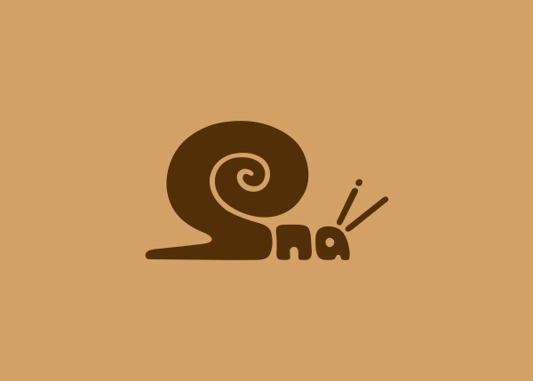 snail logo A Creative Project of Animal Logotypes by Dan Fleming