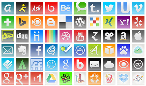 110 Aquare Social Media Icons 2014 35 Best Free Social Media Icons Set for 2014