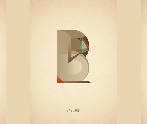Amazing-Animal-Typography-Letter-B