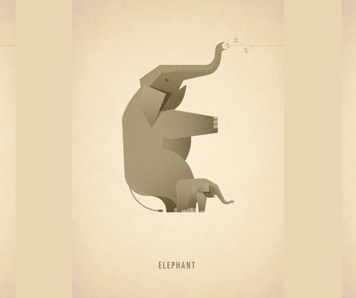 Amazing Animal Typography Letter e Amazing Animal Typography in Alphabets by Marcus Reed