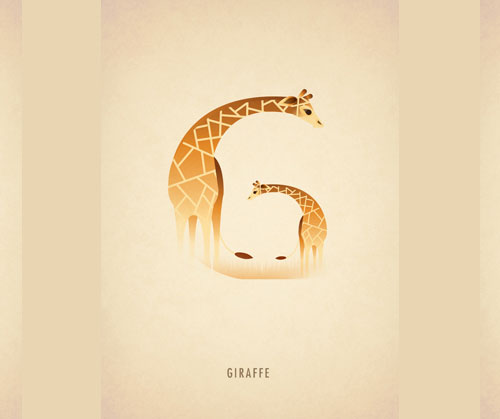 Amazing-Animal-Typography-Letter-g