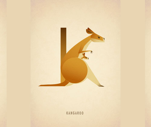 Amazing-Animal-Typography-Letter-k