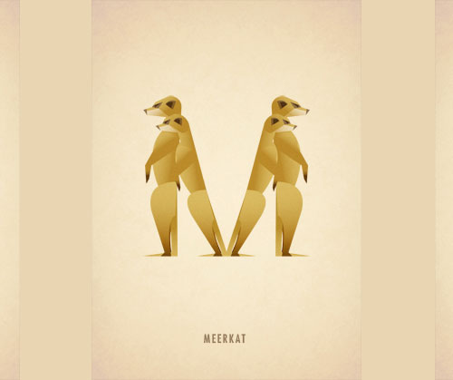 Amazing Animal Typography Letter m Amazing Animal Typography in Alphabets by Marcus Reed