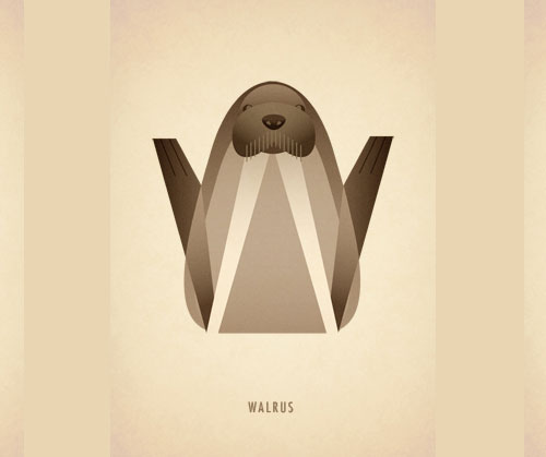 Amazing-Animal-Typography-Letter-w
