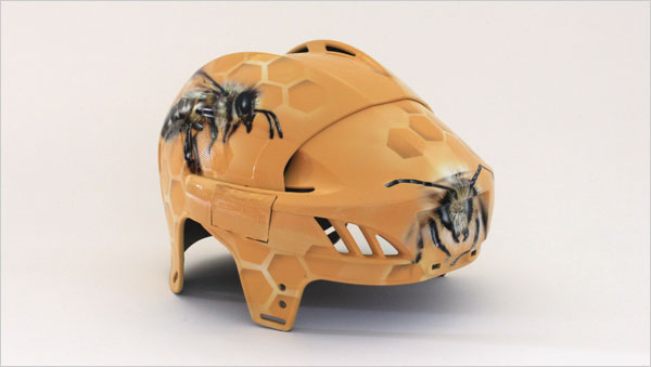 Bee-creative-hockey-helmet-design