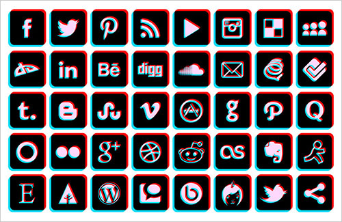 BluRay-3D-Social-Media-Icons