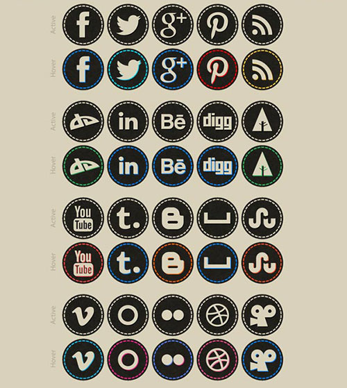 Free-Hand-Stitch-Social-Bookmarking-Icons