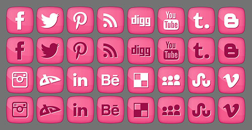 Free-Pink-Girly-Social-media-Icons