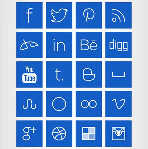 Line-art-Social-Media-Icons