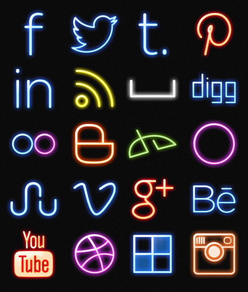 Neon-Lights-Free-Social-Media-Icons-2014
