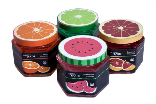 Organic-earth-jam-packaging-design