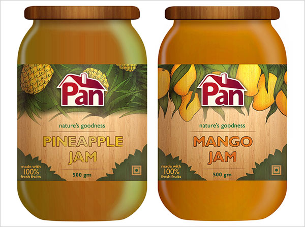 Pan-Foods-Pineapple-&-Mango-Jam-Jar-Labels