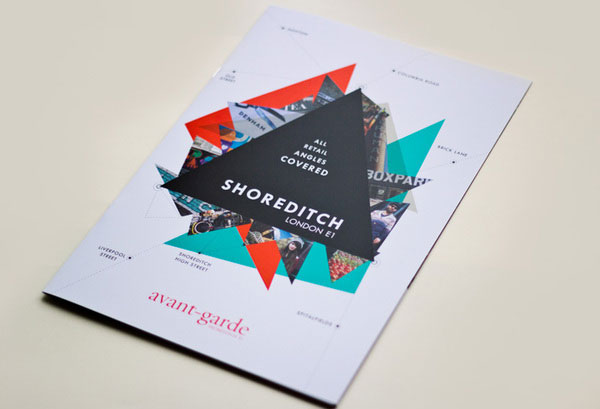 Modern Brochure Design. Useful And Modern Flyer With Geometric