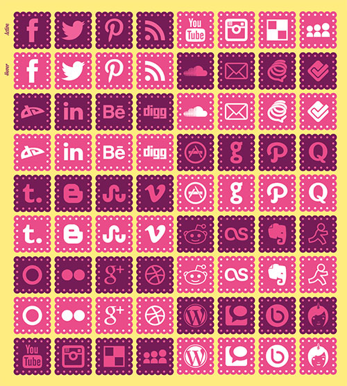 Social-icons-for-girls-blog